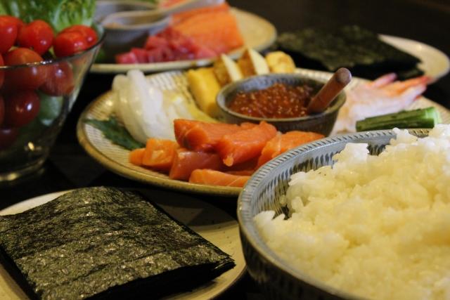 父の日は手巻き寿司